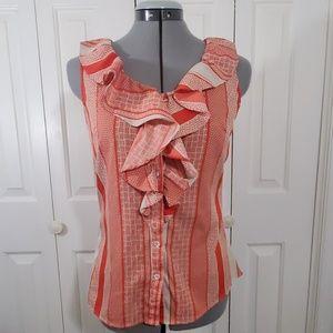 BANANA REPUBLIC Orange Sleeveless Blouse Size S